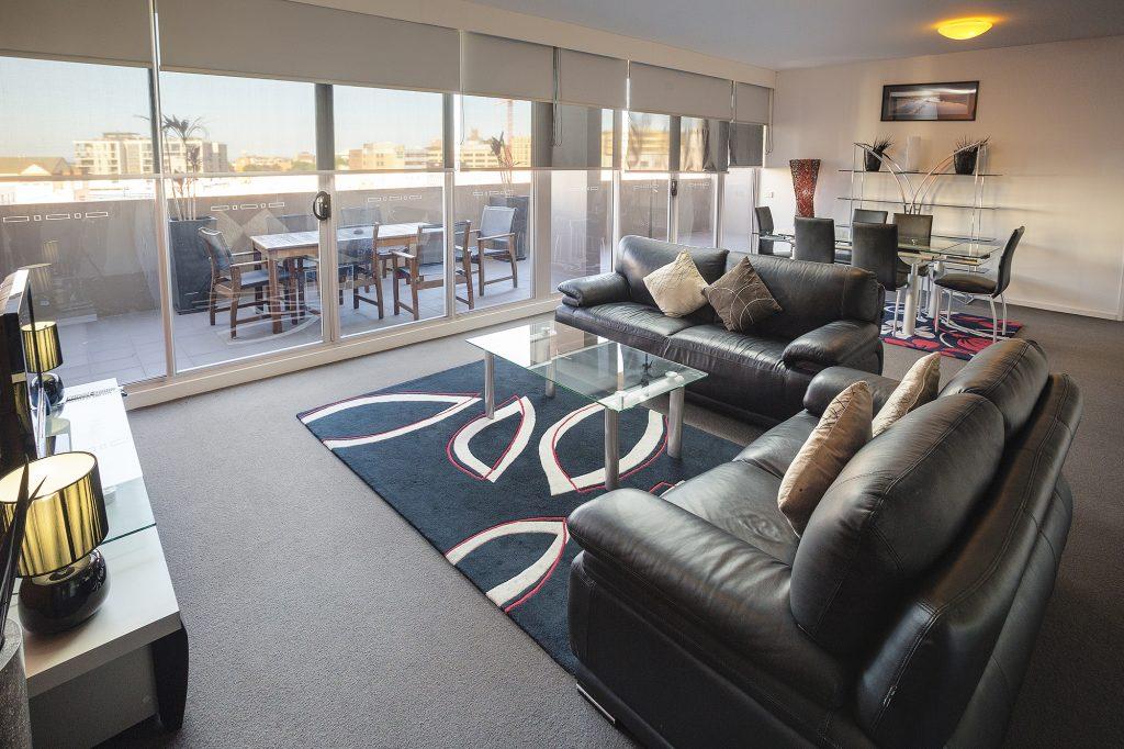 honeysuckle executive apartments living room