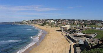 Bar Beach at NSW, Australia